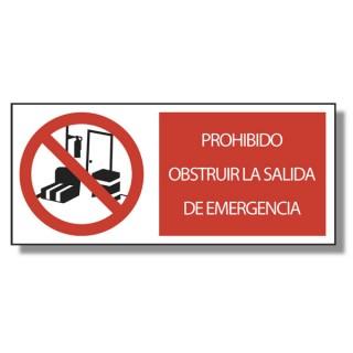 Prohibido obstruir la salida de emergencia marve for Precio de puertas salida de emergencia
