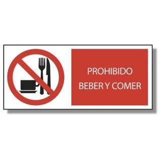 PROHIBIDO BEBER Y COMER