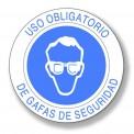 USO OBLIGATORIO DE GAFAS DE SEGURIDAD