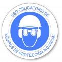 USO OBLIGATORIO DE CASCO, GAFAS  Y PROTECTOR ANTIRUIDO
