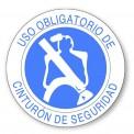 USO OBLIGATORIO DE CINTURON DE SEGURIDAD