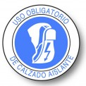 USO OBLIGATORIO DE CALZADO AISLANTE