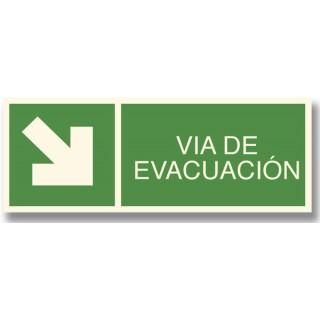 FLECHA ABAJO DERECHA EVACUACIÓN