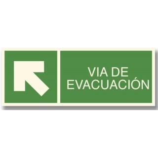 FLECHA ARRIBA IZQUIERDA EVACUACIÓN