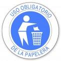 USO OBLIGATORIO DE LA PAPELERA