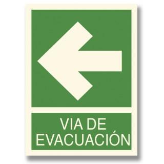 FLECHA IZQUIERDA EVACUACIÓN