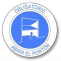 OBLIGATORIO ABRIR EL PORTÓN