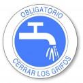 OBLIGATORIO CERRAR LOS GRIFOS