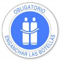 OBLIGATORIO ENGANCHAR LAS BOTELLAS