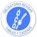 OBLIGATORIO REVISAR CABLES Y CADENAS