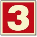 NUMERO 3 ROJO (PEQUEÑO)