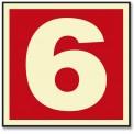 NUMERO 6 ROJO (PEQUEÑO)