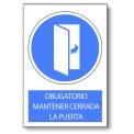 OBLIGATORIO MANTENER CERRADA LA PUERTA