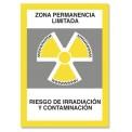 ZONA PERMANENCIA LIMITADA RIESGO DE IRRADIACIÓN Y CONTAMINACIÓN