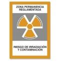ZONA PERMANENCIA REGLAMENTADA RIESGO DE IRRADIACIÓN Y CONTAMINACIÓN
