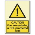 CAUTION! YOU ARE ENTERING A CO2 PROTECTED AREA