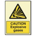 CAUTION EXPLOSIVE GASES