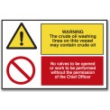 WARNING THE CRUDE OIL WASHING LINES ON...