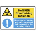 DANGER NON-IONIZING RADIATION...
