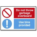DO NOT THROW GARBAGE OVERBOARD/...
