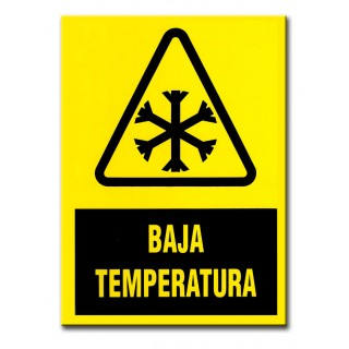 """""""BAJA TEMPERATURA"""" 210X297 MM PVC"""