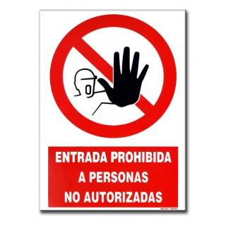 PERSONAS NO AUTORIZADAS 210X297MM ADHESIVO