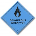 DANGEROUS WHEN WET CLASS 4