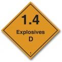 EXPLOSIVES 1.4 D CLASS 1