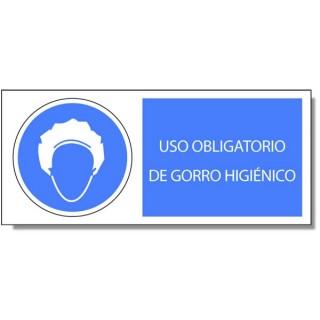 USO OBLIGATORIO DE GORRO HIGIÉNICO - Marve Señalización y Seguridad 2cbf49d2d8b