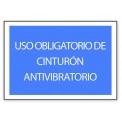 USO OBLIGATORIO DE CINTURON ANTIVIBRATORIO