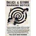 DRUGS AND ALCOHOL WARNING (CABIN SIZE)