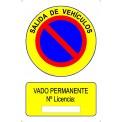 PLACA VADO CON LICENCIA 500X300 MM