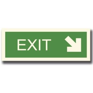 EXIT  WITH DOWN ARROW RIGHT