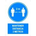 MANTENER DISTANCIA 2 METROS