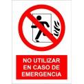 """""""NO UTILIZAR EN CASO DE EMERGENCIA"""""""