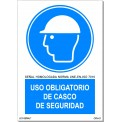 USO OBLIGATORIO DE CASCO DE SEGURIDAD