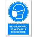USO OBLIGATORIO DE MASCARILLA DE SEGURIDAD