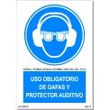 USO OBLIGATORIO DE GAFAS Y PROTECTOR ANTIRUIDO