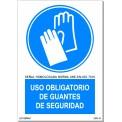 USO OBLIGATORIO DE GUANTES DE SEGURIDAD