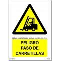 PELIGRO PASO DE CARRETILLAS