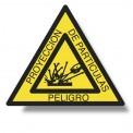 PELIGRO PROYECCIÓN DE PARTÍCULAS