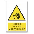 PELIGRO PASO DE MOTOVOLQUETES