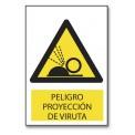 PELIGRO PROYECCION DE VIRUTA