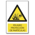 PELIGRO PROYECCION DE PARTICULAS