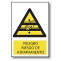 ATENCIÓN RIESGO DE ATRAPAMIENTO (MANO)