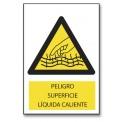 PELIGRO SUPERFICIE LÍQUIDA CALIENTE