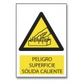 PELIGRO SUPERFICIE SÓLIDA CALIENTE