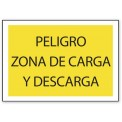 PELIGRO ZONA DE CARGA Y DESCARGA