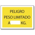 PELIGRO PESO LIMITADO A... KG.