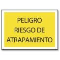 PELIGRO RIESGO DE ATRAPAMIENTO (ROPA)